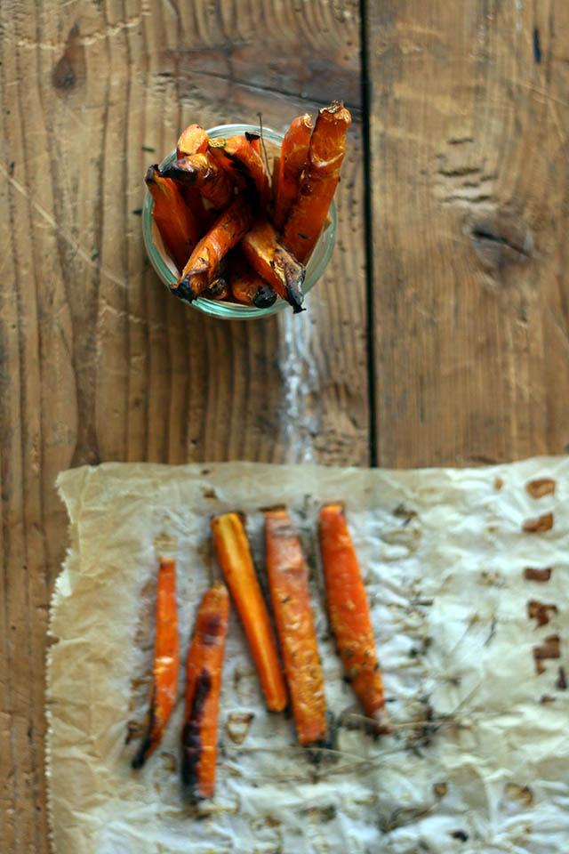 Gezonde wortelfriet: friet gemaakt van wortel