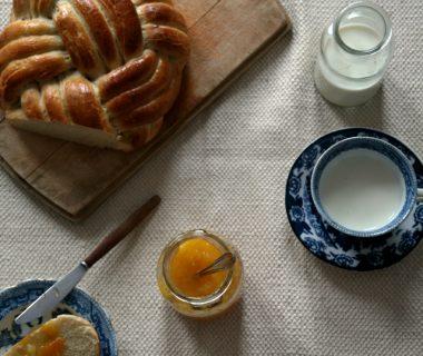 winston vlechtbrood met pruimen jam