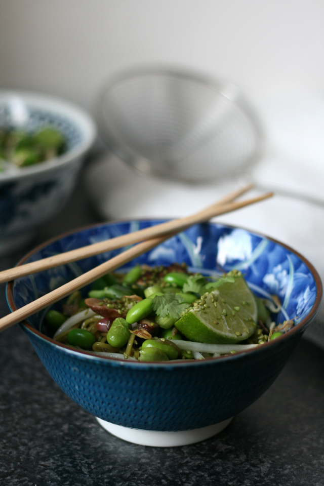 groene thee soba noedels