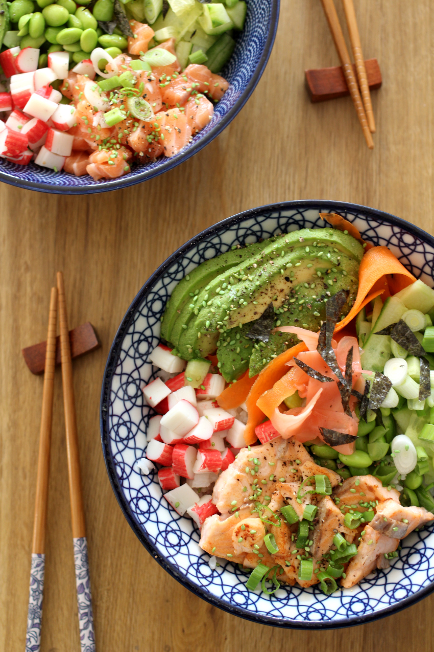 Recept sushi bowl: sushi bowl zelf maken