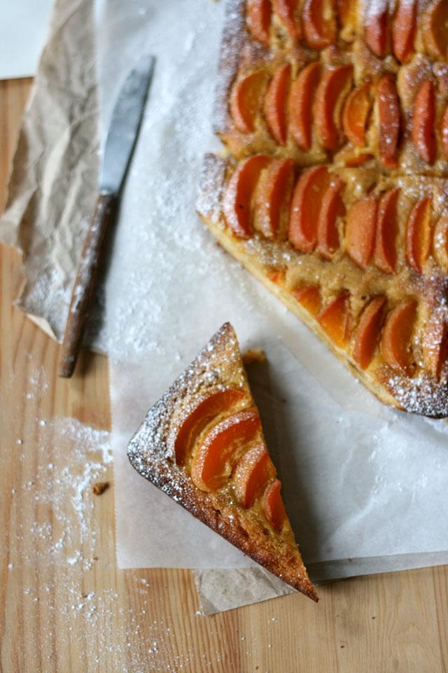 Abrikozen amandelcake zonder suiker, glutenvrij en koemelkvrij