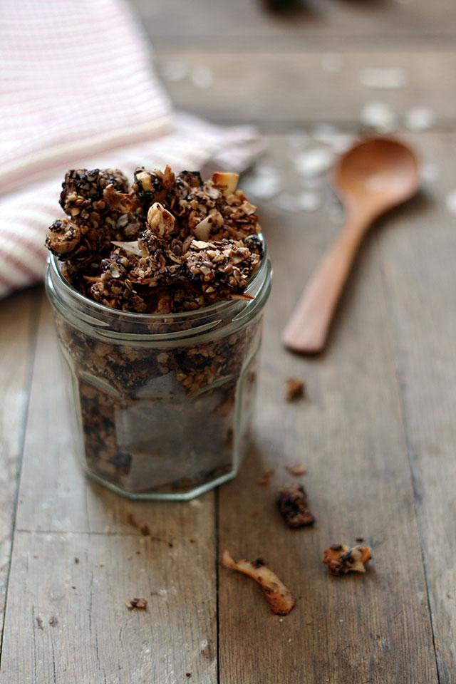 Chocolade boekweit granola | Yellow lemon tree