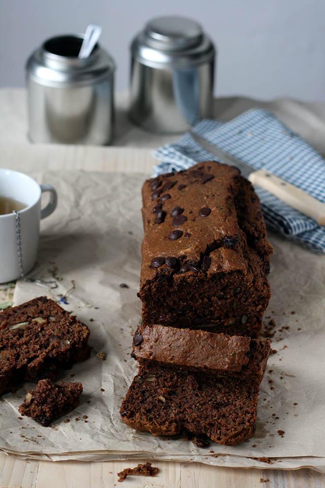 Courgettebrood met chocolade