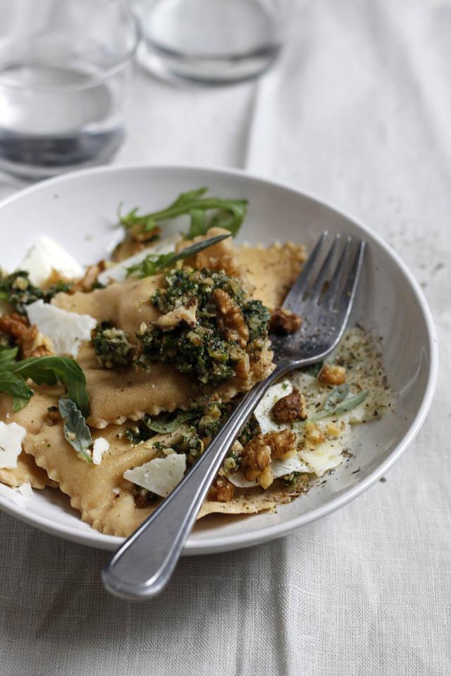 Zelf ravioli maken met ricotta en citroen