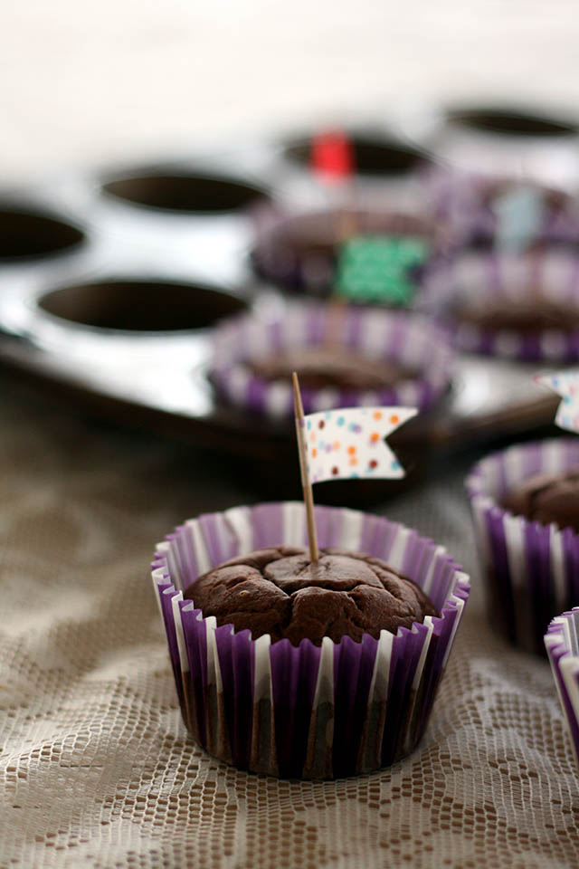 Banaan chocolade muffins
