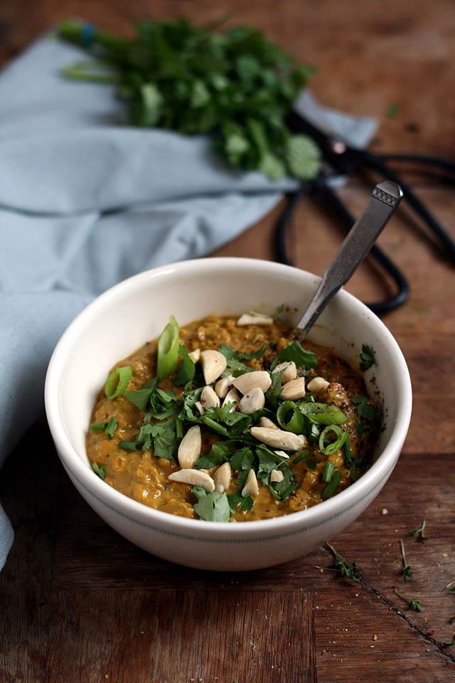 Indiase curry met linzen