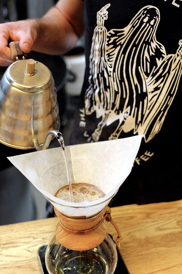 Slow koffie zetten met een chemex