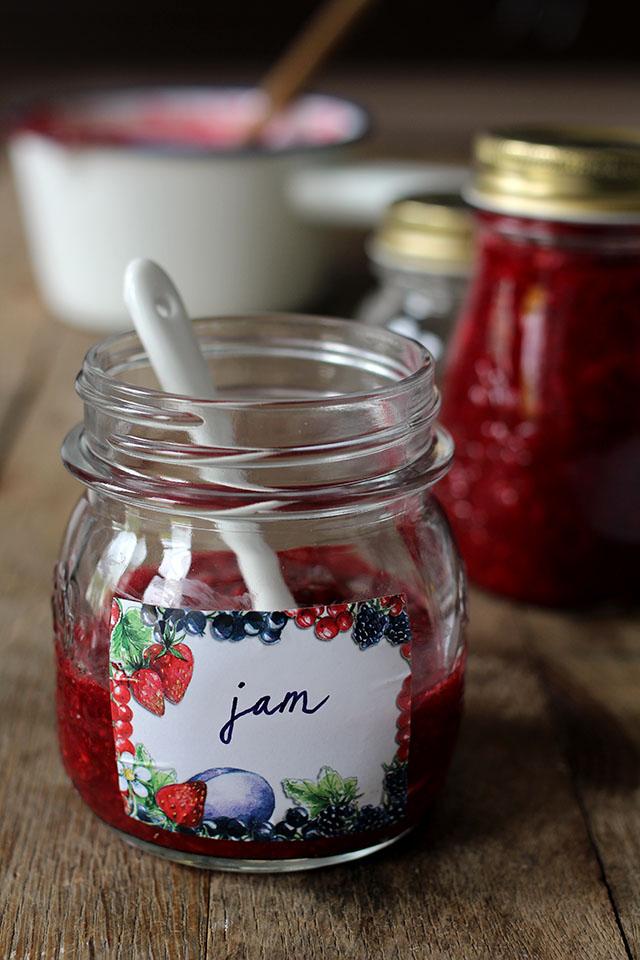 Frambozen aardbeien jam zonder suiker