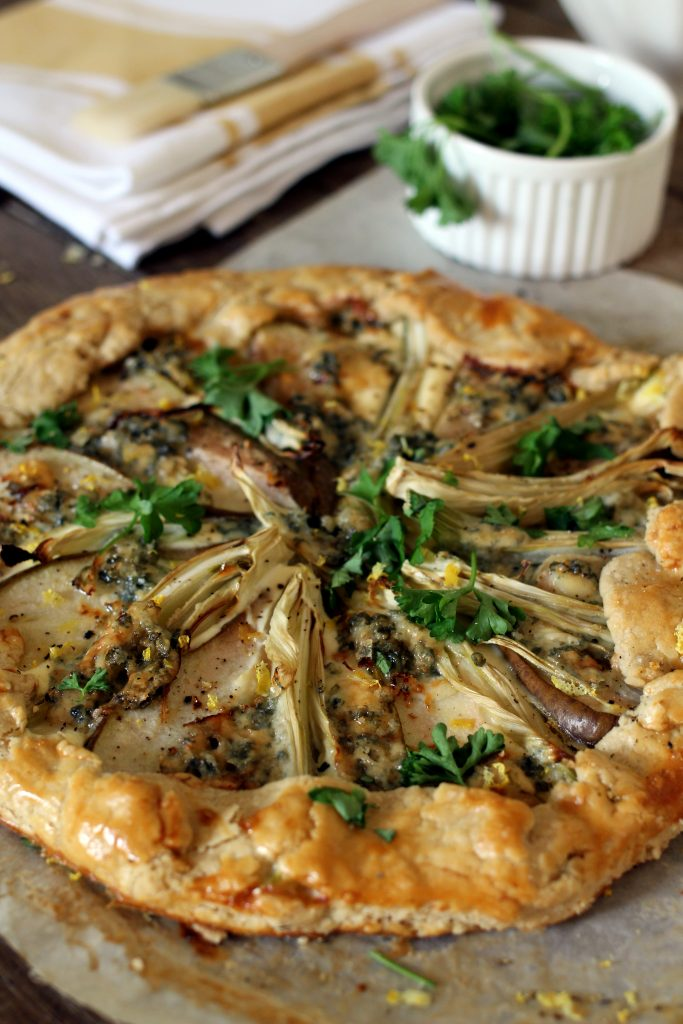 Galette recept met peer, blauwe kaas en venkel