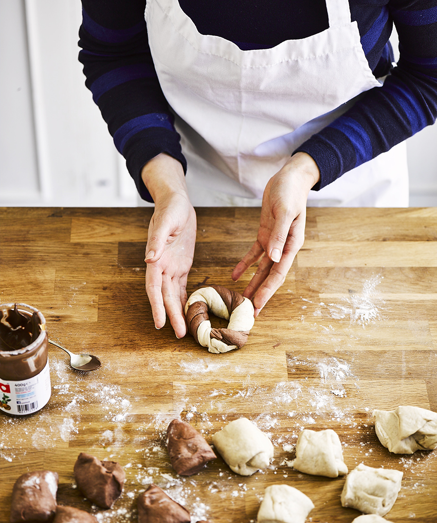 Recept Valentijnsdag ontbijt: Nutellabagels