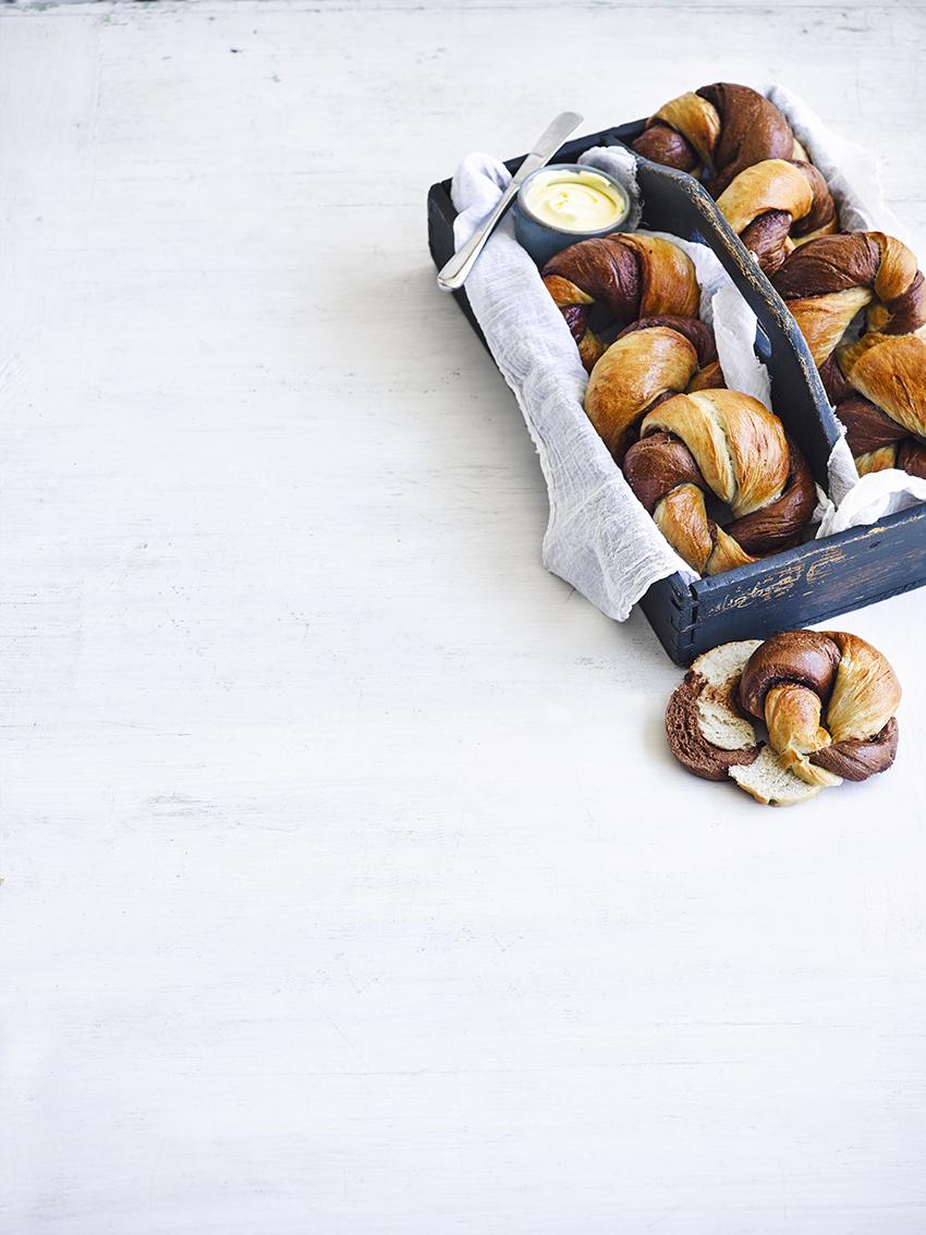 Valentijnsontbijt: Nutellabagels
