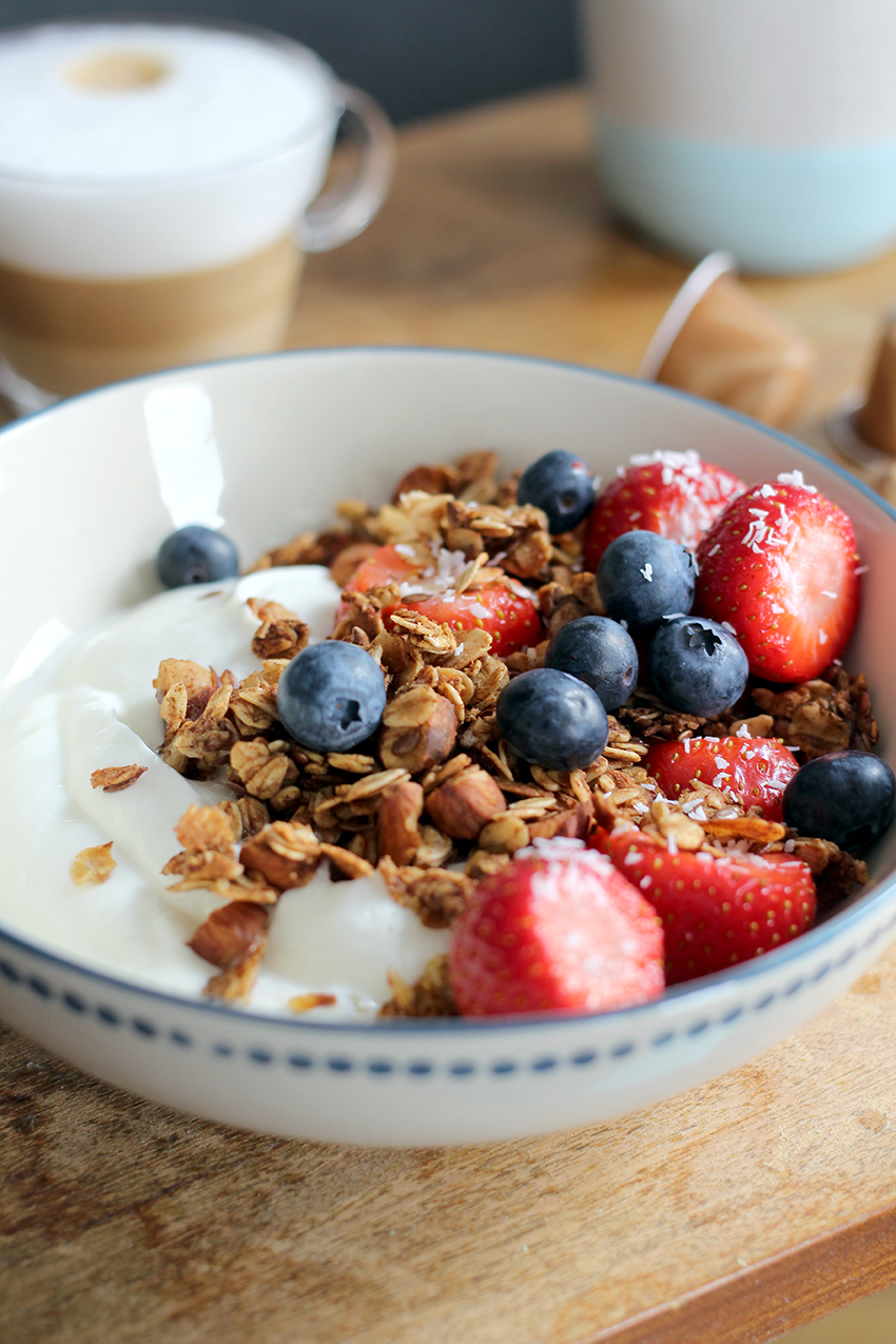 Koffie granola recept