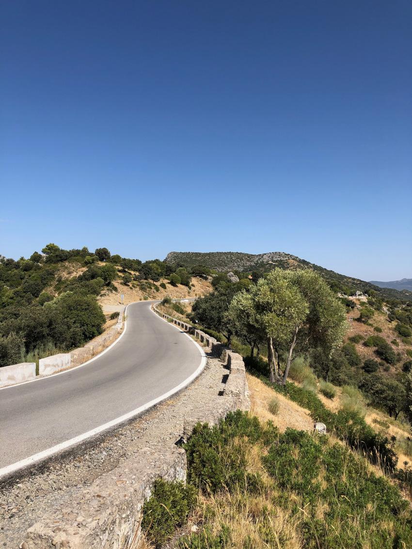 Road CA-9104 - Grazalema naar Zahara de la Sierra