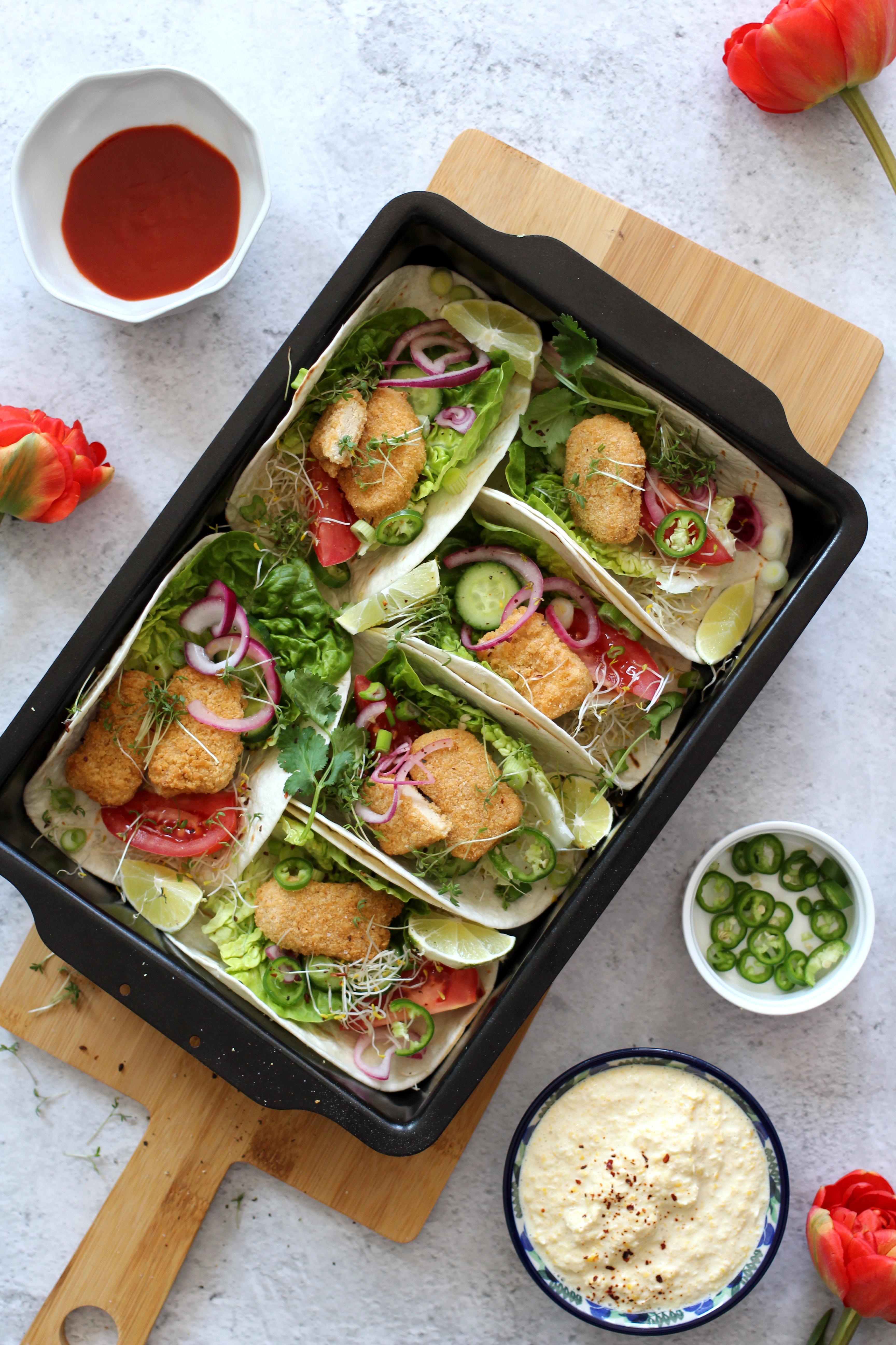Recept met vegan nuggets van Quorn