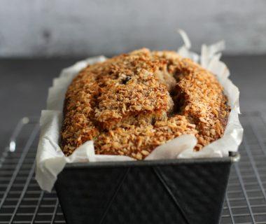 Perfect smeuïg bananenbrood recept met blauwe bessen