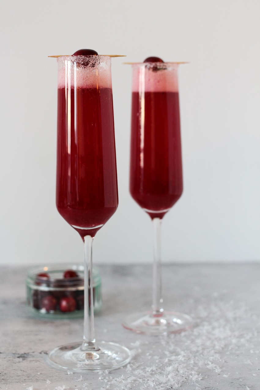 Feestelijke Kerstcocktail: Cranberry Mimosa