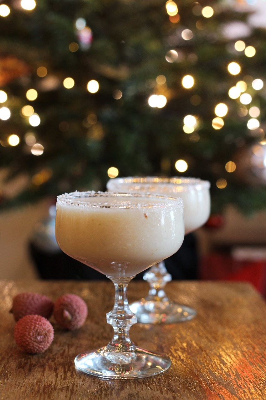 Feestelijke Kerstcocktail: Frozen Lychee Margarita